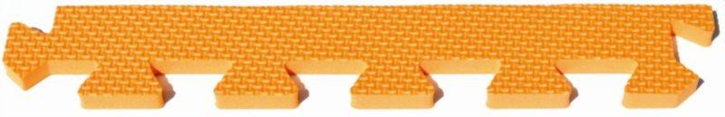 Rovný zakončovací dílek 10mm - okraje k pěnovému koberci, oranžová barva