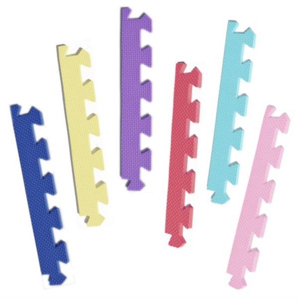 Rovný zakončovací dílek 10mm - pastelový Mix (1 ks)