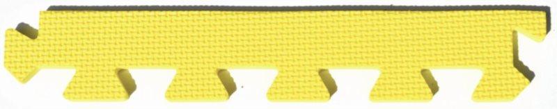 Rovný zakončovací dílek 10mm - okraje k pěnovému koberci, žlutá barva