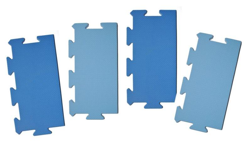 LC Okrajový dílek pro koberec extra 0+ modrý 1ks (mix)