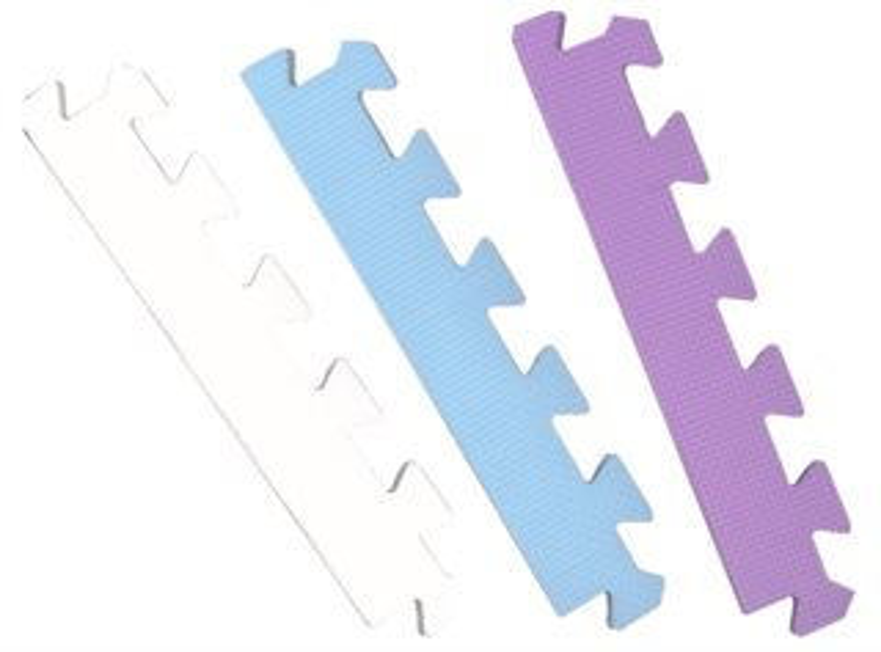 Rovný zakončovací dílek k modrým kytičkám