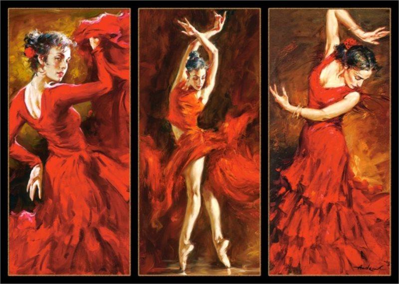 CASTORLAND Puzzle Rudé tanečnice 1000 dílků