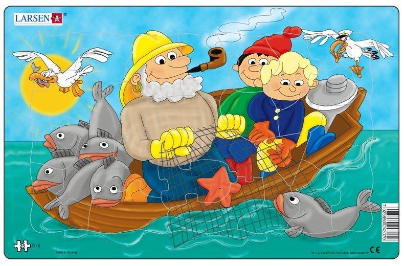LARSEN Puzzle Rybaření na moři 25 dílků