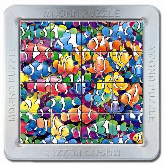 3D magnetické puzzle PIATNIK 16 dílků - Rybičky - Klauni