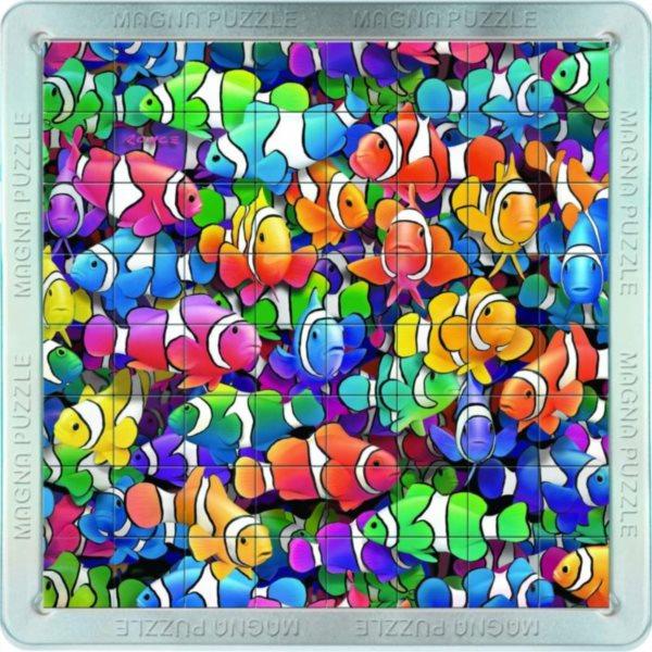 3D magnetické puzzle PIATNIK 64 dílků - Rybičky - klauni