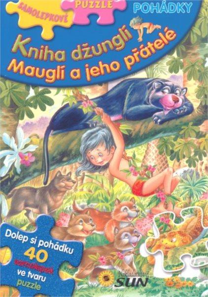 Samolepkové puzzle - Kniha džunglí 40 samolepek ve tvaru puzzle