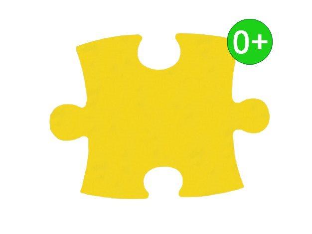 Pěnový koberec KLASIK silný 0+ (žlutý)