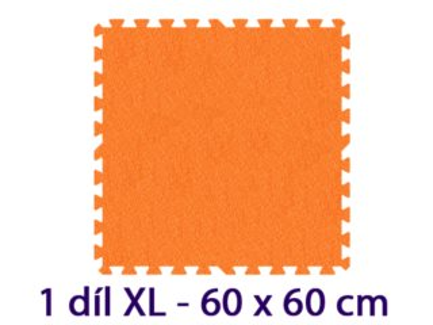 MALÝ GÉNIUS Samostatný díl XL 8mm (oranžový)
