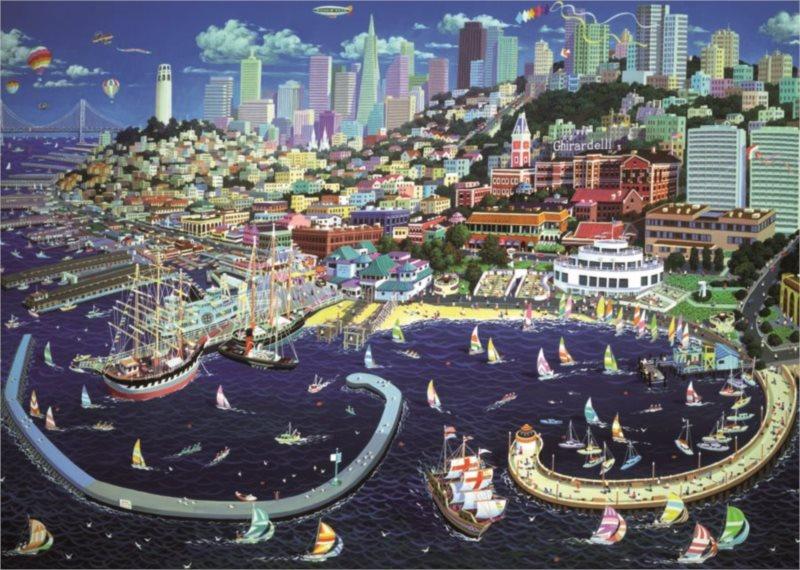 Puzzle DINO 1000 dílků - San Francisco, USA