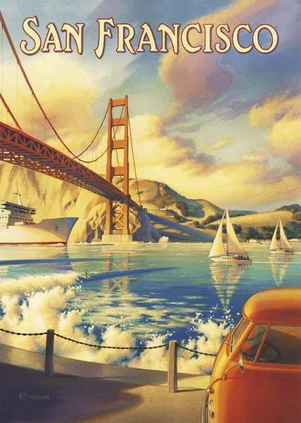 Puzzle CLEMENTONI 1000 dílků - San Francisco