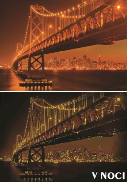 CLEMENTONI poškzený obal: Svítící puzzle San Francisco 1000 dílků