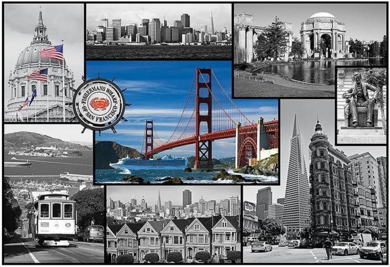 Puzzle TREFL 1500 dílků - San Francisco- koláž
