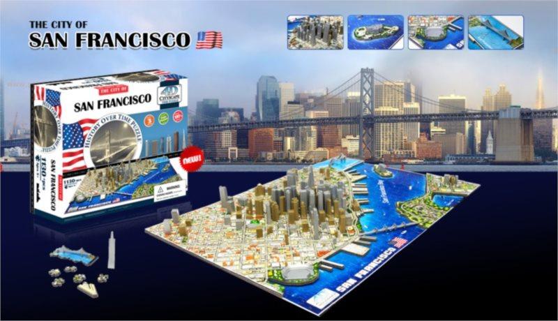 4D Cityscape Time puzzle - San Francisco 1130 dílků