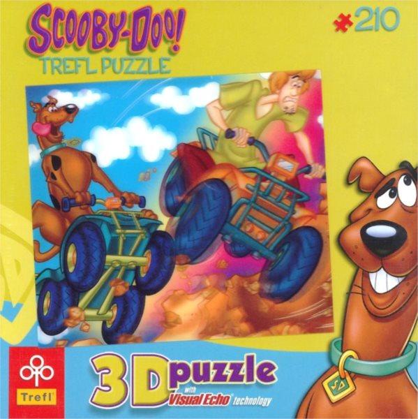 3D puzzle pro děti TREFL 210 dílků - Scooby Doo: Čtyřkolky 3D