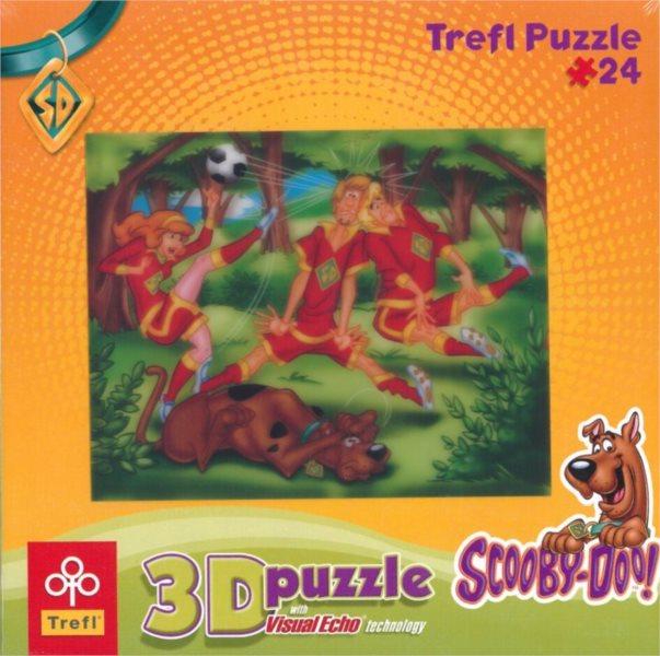 TREFL Puzzle Scooby Doo: Fotbal 3D 24 dílků