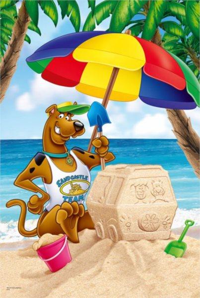 TREFL Puzzle Scooby Doo: Na pláži MAXI 24 dílků