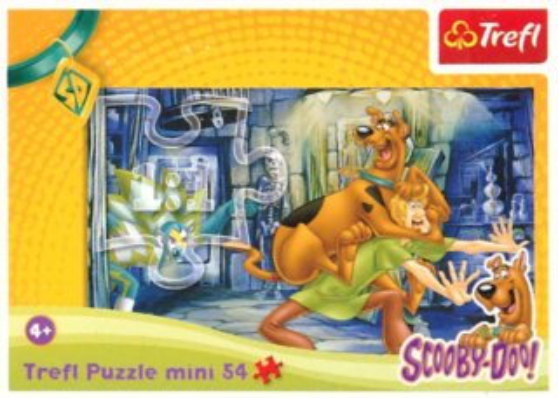 Dětské puzzle TREFL 54 dílků - Scooby-Doo: Strašidelný dům