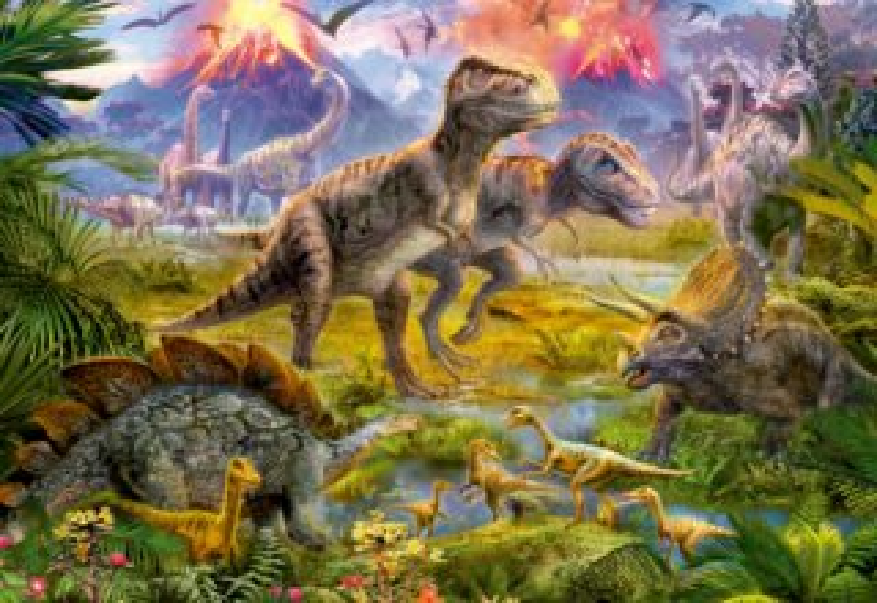 EDUCA 15969 Setkání dinosaurů - puzzle 500 dílků