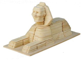 WOODEN TOY / WCK 3D puzzle Sfinga