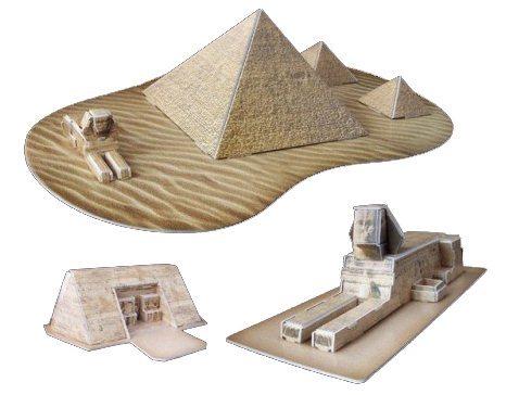 3D puzzle DIY 38 dílků - Sfinga, Pyramidy, Abú Simbel 3D, Egypt