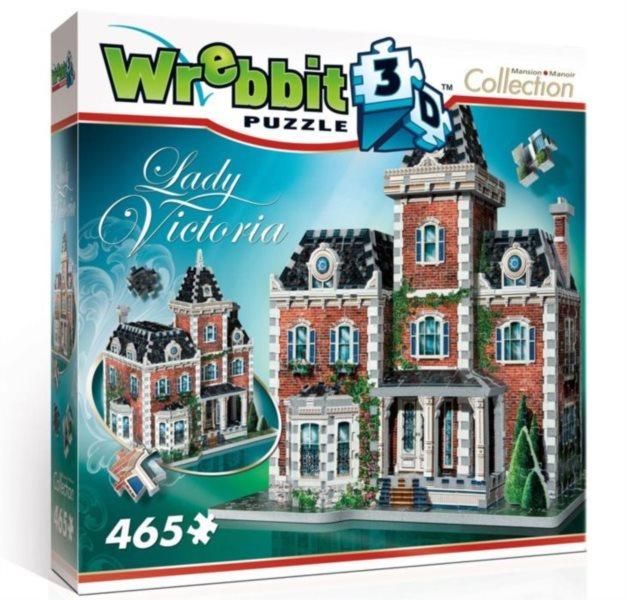 3D puzzle WREBBIT 465 dílků Sídlo Lady Victoria 3D