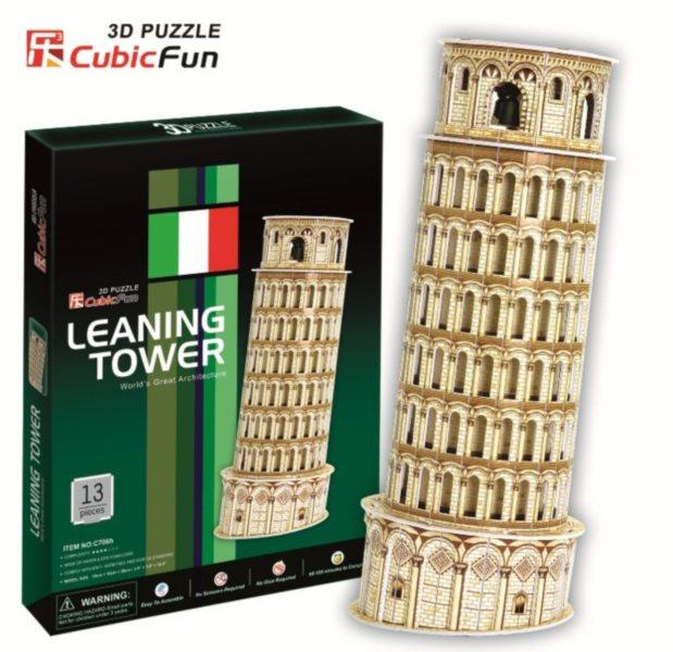 CUBICFUN 3D puzzle Šikmá věž v Pise 13 dílků