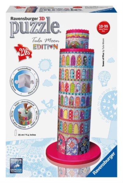 3D puzzle RAVENSBURGER 216 dílků - Šikmá věž v Pise 3D (Tula Moon)