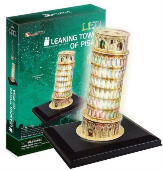 CUBICFUN Svítící 3D puzzle Šikmá věž v Pise 15 dílků