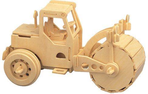 3D dřevěné puzzle Silniční válec P027