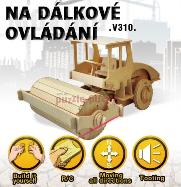 3D dřevěné puzzle ROBOTIME Silniční válec RC V310