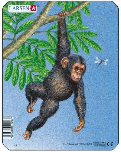 LARSEN Puzzle Šimpanz 9 dílků