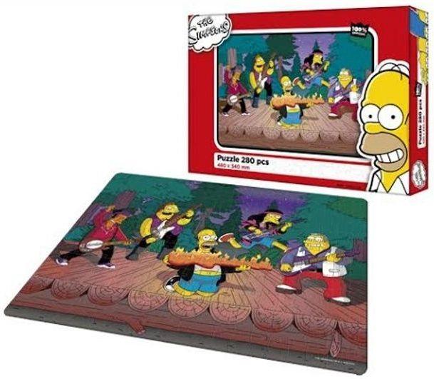 Dětské puzzle EFKO 280 dílků - Simpsonovi - Rockový koncert