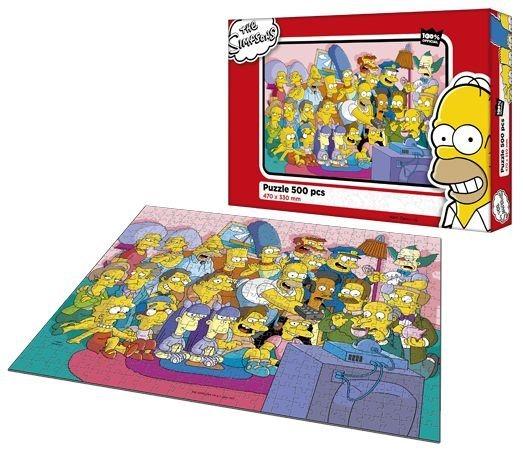 Dětské puzzle EFKO 500 dílků - Simpsonovi - TV mánie