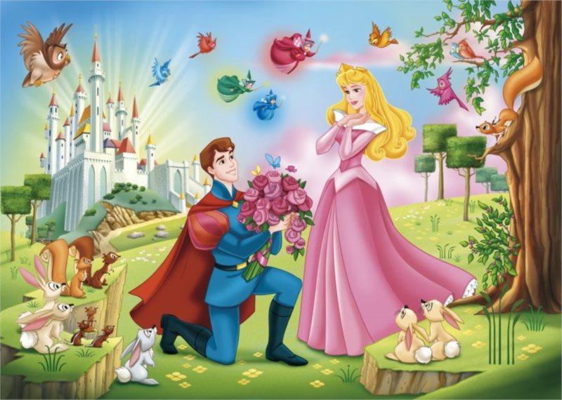 CLEMENTONI puzzle Šípková Růženka Disney 60 dílků