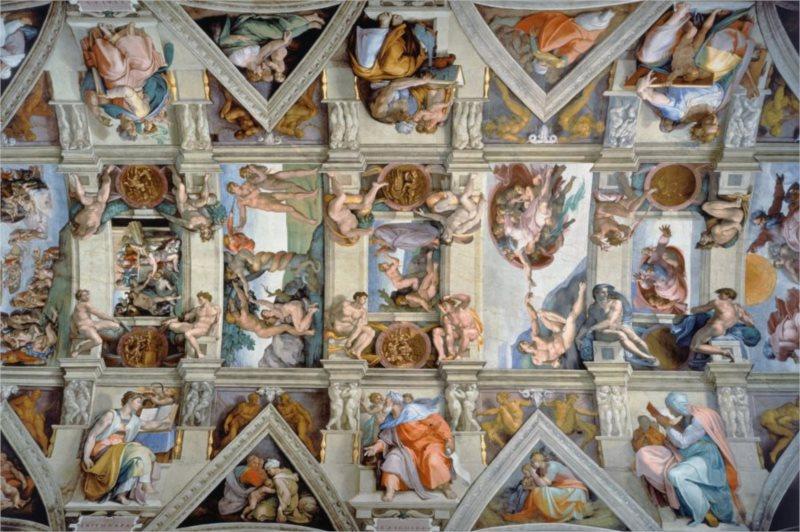 Puzzle RAVENSBURGER 5000 dílků - Sixtinská kaple (Michelangelo)