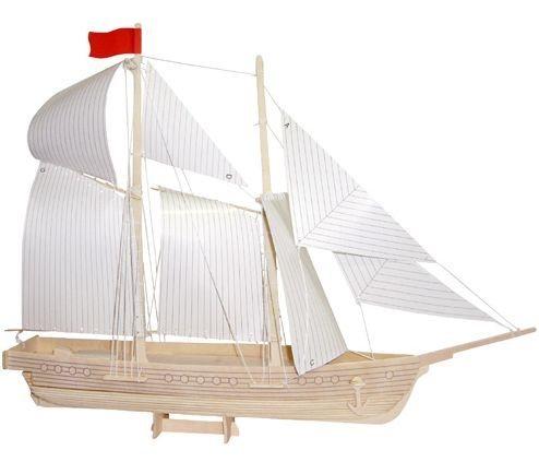3D dřevěné puzzle Škuner