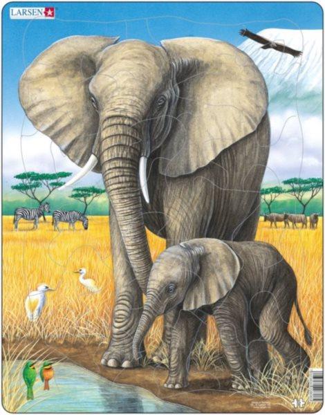 LARSEN Puzzle Sloni 32 dílků