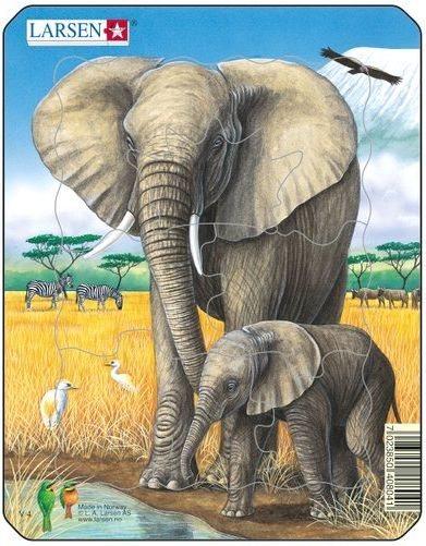 LARSEN Puzzle Sloni 8 dílků