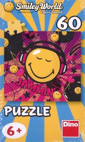 Dětské puzzle DINO 60 dílků - Smiley World: Sluchátka