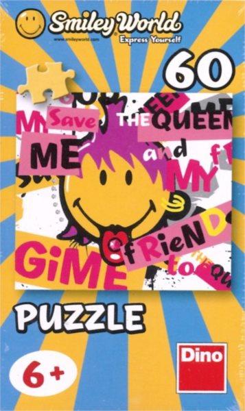 Dětské puzzle DINO 60 dílků - Smiley World: Vyplazený jazyk