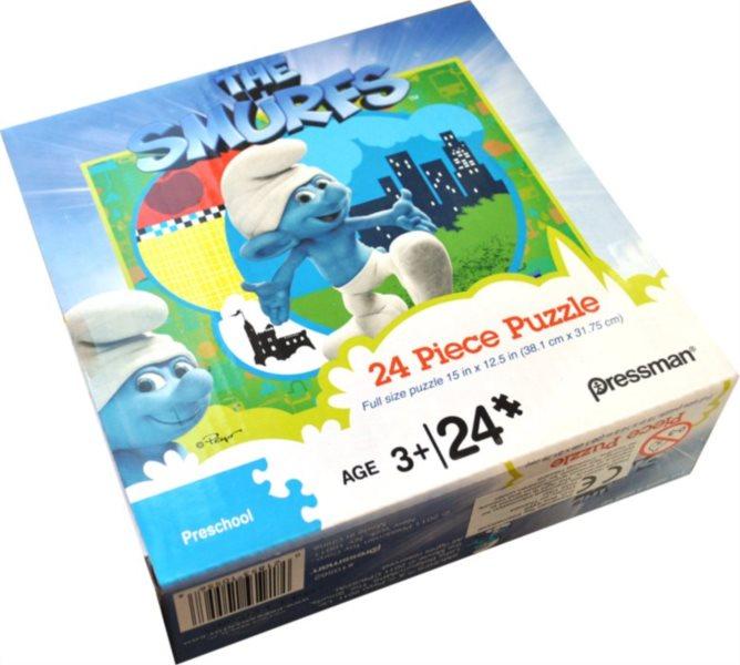 Dětské puzzle 24 dílků - Šmoulové II