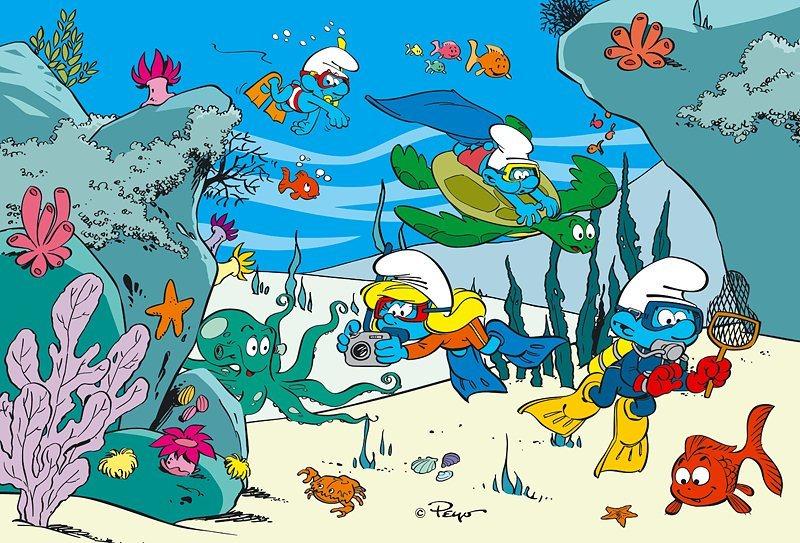 Puzzle pro děti TREFL 100 dílků - Šmoulové: Pod vodou