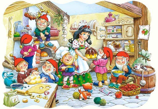 CASTORLAND Puzzle Sněhurka a sedm trpaslíků MAXI 20 dílků