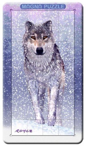 Piatnik 3D magnetické puzzle Sněžný vlk 32 dílků