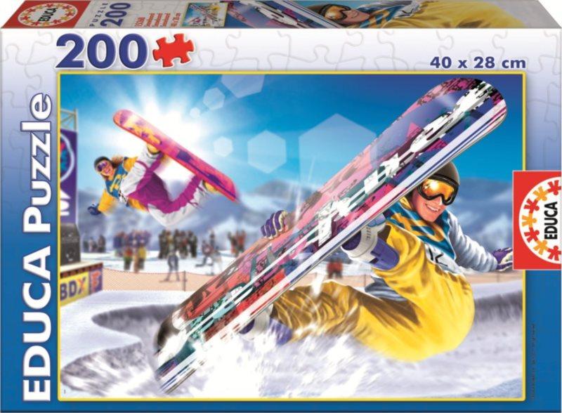 Dětské puzzle EDUCA 200 dílků - Snowboard