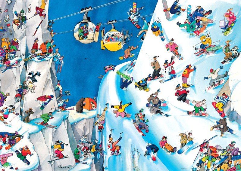 Puzzle HEYE 1000 dílků - Roger Blachon, Snowboardy