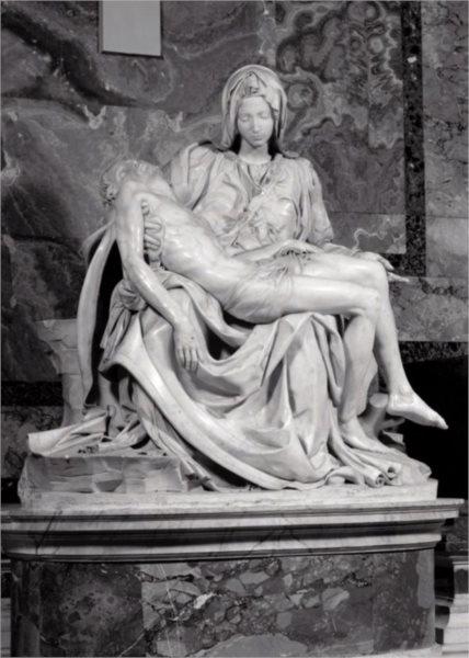 Puzzle EDITIONS RICORDI 1000 dílků - Michelangelo, Socha Pieta