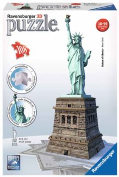 RAVENSBURGER 3D puzzle Socha Svobody, New York 108 dílků