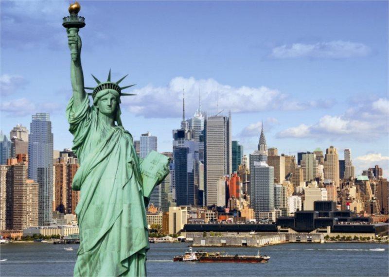 DINO Puzzle Socha Svobody, New York 1000 dílků