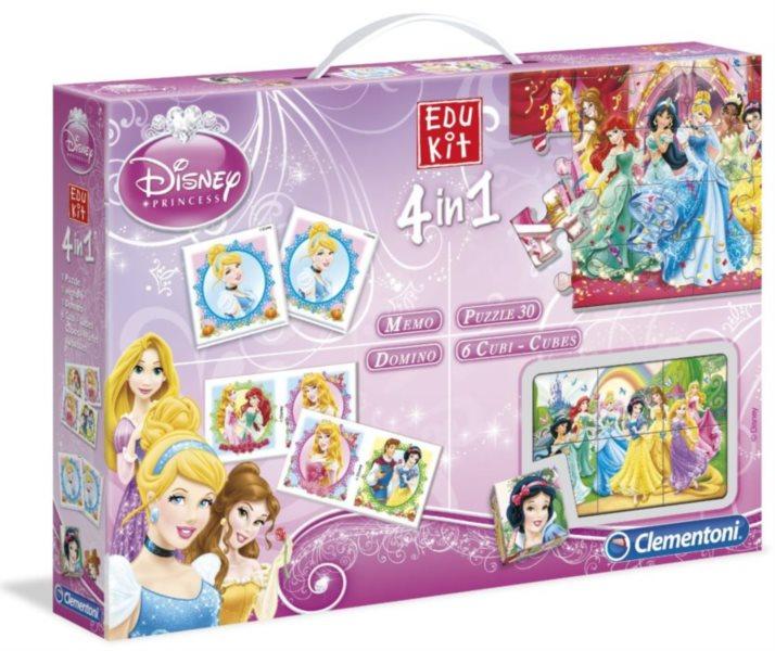 CLEMENTONI Soubor her Disney Princezny 4v1